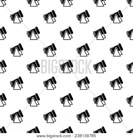 Battle Cannon Pattern Vector Seamless Repeating For Any Web Design