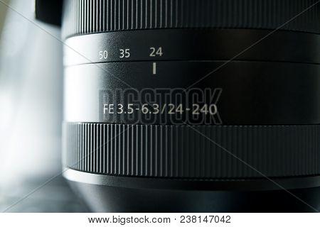 Shanghai, China - Apr 2018: The Sony A7 Rii Mirrorless Lens. Optical Steady Shot Of Sony Camera Made