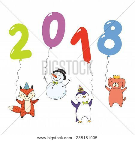 Hand Drawn New Year Vector & Photo (Free Trial) | Bigstock