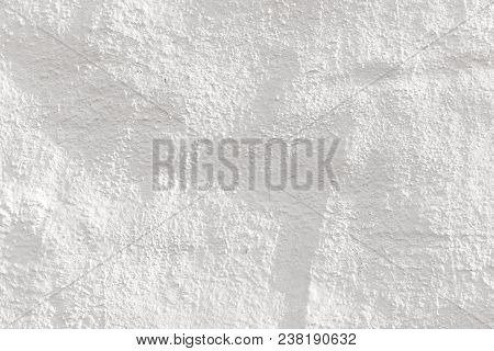 detail of white painted  wall gives a harmonic background poster