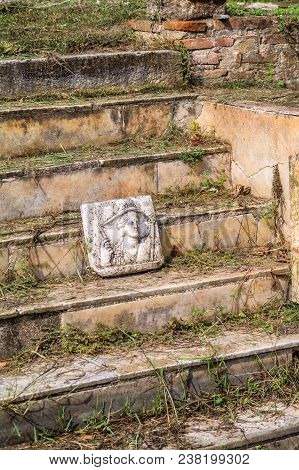 Different Greek Statue Found At Ancient Dion Of Katerini City, Greece.