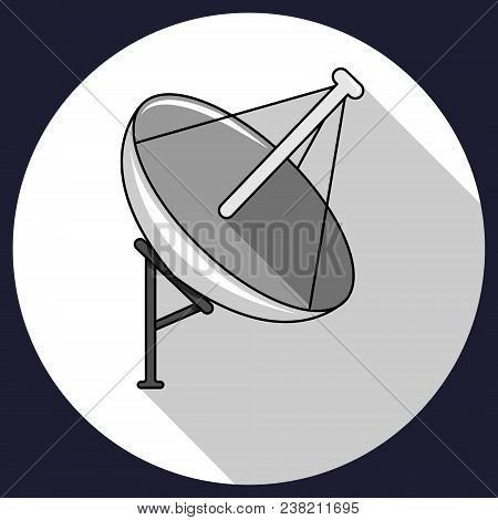 Vector Illustration Of Satellite. Satellite Communication Icon.