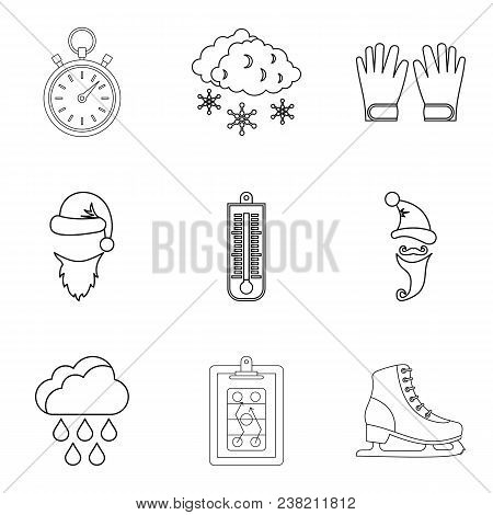 Refrigeration Icons Set. Outline Set Of 9 Refrigeration Vector Icons For Web Isolated On White Backg