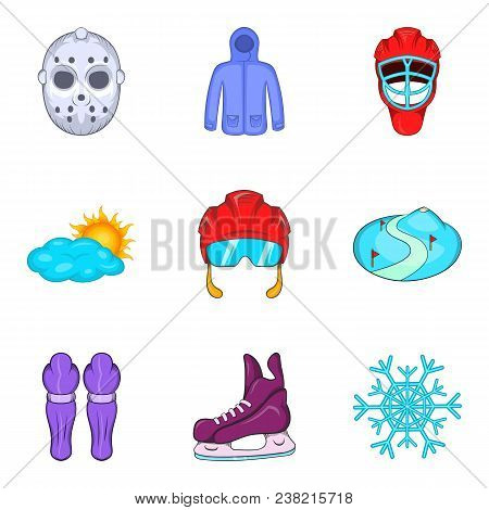 Common Cold Icons Set. Cartoon Set Of 9 Common Cold Vector Icons For Web Isolated On White Backgroun