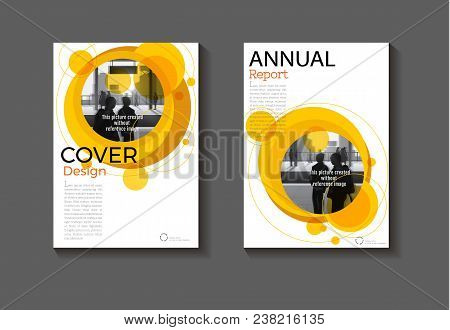 Circle Yellow Abstract  Layout Background Modern Cover Design Modern Book Cover Brochure Cover  Temp