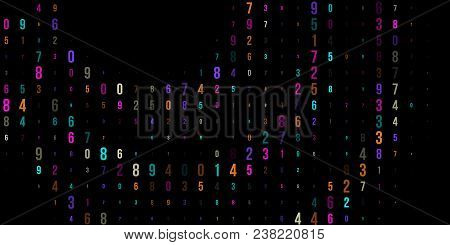 Modern Design Digital Wallpaper For Banner Design. Vector Binary Code  Background. Vector Coding Ico