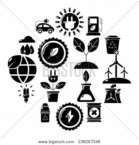 Ecology Icons Set. Simple Illustration Of 16 Ecology Vector Icons For Web