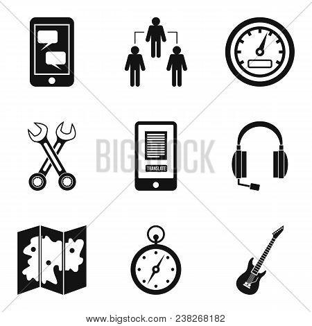 Radio Exchange Icons Set. Simple Set Of 9 Radio Exchange Vector Icons For Web Isolated On White Back
