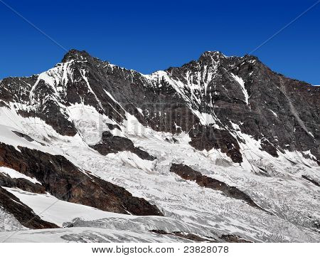 Dom and Taschhorn - Swiss alps