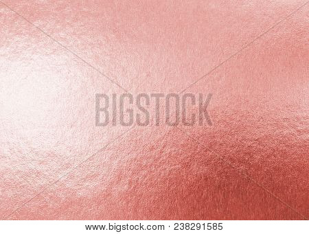 Rose Gold Pink Texture Metallic Wrapping Foil Paper Shiny Metal Background For Wall Paper Decoration