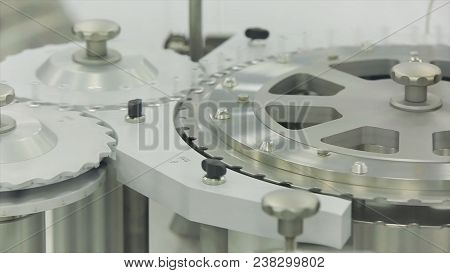 Ampoule Filling And Sealing Machine Equipment In Pharmaceutical Industry. Pharmaceutics. Pharmaceuti