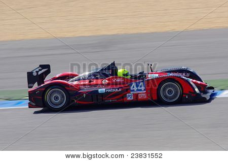 ESTORIL - SEPTEMBER 25: The Judd Norma M200P of the team Extreme Limite AM Paris piloted by Fabien Rosier in the LMS race