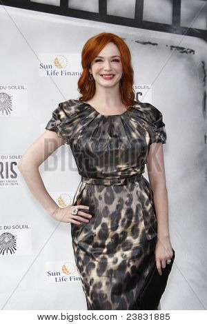 LOS ANGELES, CA - SEP 25: Christina Hendricks at the IRIS, A Journey Through the World of Cinema by Cirque du Soleil premiere September 25, 2011 at Kodak Theater in Los Angeles, California