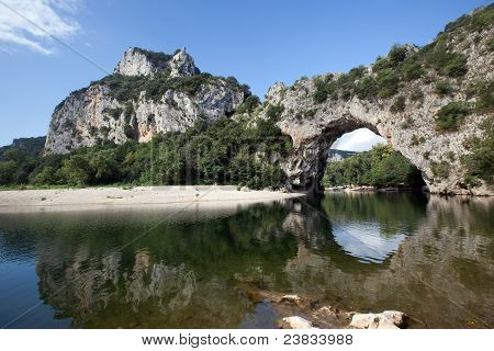 Pont D'arc Arch On Ardeche River