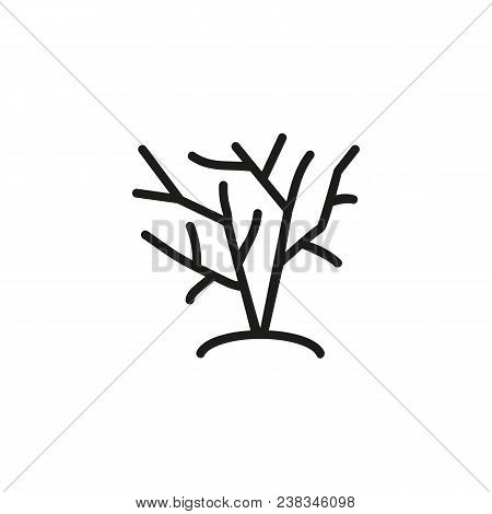 Icon Of Growing Bush. Shrubbery, Tree, Plant. Nature Concept. Can Be Used For Topics Like Parkland,