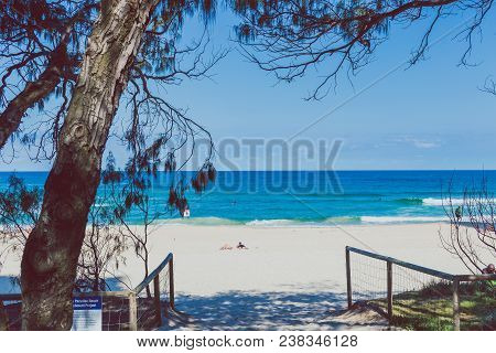 Gold Coast, Australia - December 28th, 2013: The Beach And Landscape In Surfers Paradise On The Gold
