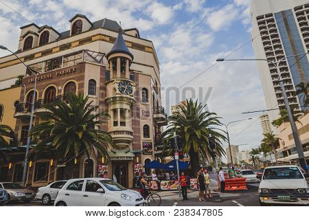 Gold Coast, Australia - January 7th, 2014: Details Of The City Centre In Surfers Paradise On The Gol