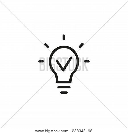 Icon Of Brilliant Idea. Imagination, Lamp, Bulb, Glowing. Creativity Concept. Can Be Used For Topics