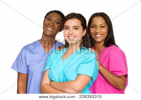 Diverse Group Of Medical Team Of Women.
