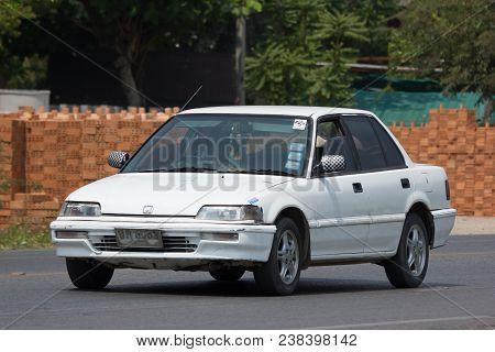 Chiang Mai, Thailand - April  5 2018: Private Sedan Car From Honda Automobil, Honda Civic. On Road N