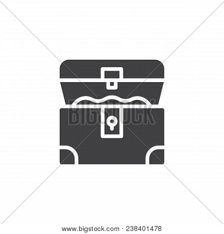 Opened Treasure Chest Vector Icon. Filled Flat Sign For Mobile Concept And Web Design. Pirates Chest