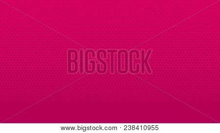 Halftone Gradient Dots Background Vector Illustration. Pink Dark Dotted, Pink Light Halftone Texture