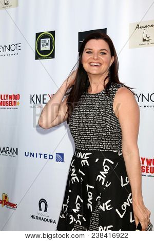 LOS ANGELES - APR 25:  Heather Tom at the NATAS Daytime Emmy Nominees Reception at Hollywood Museum on April 25, 2018 in Los Angeles, CA