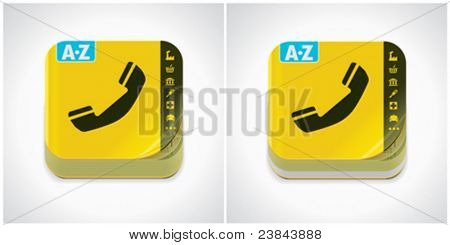 Vector yellow phone book icon
