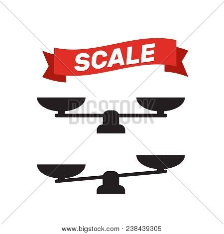 Scale Icon Vector. Scale Vector Sign Isolated. Balance Scale Sign