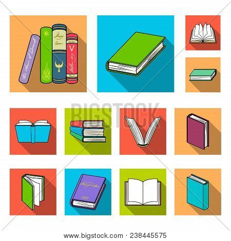 Book In The Binding Flat Icons In Set Collection For Design. Printed Products Vector Symbol Stock  I