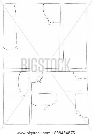 Manga Storyboard Layout Brush Vector Photo Bigstock