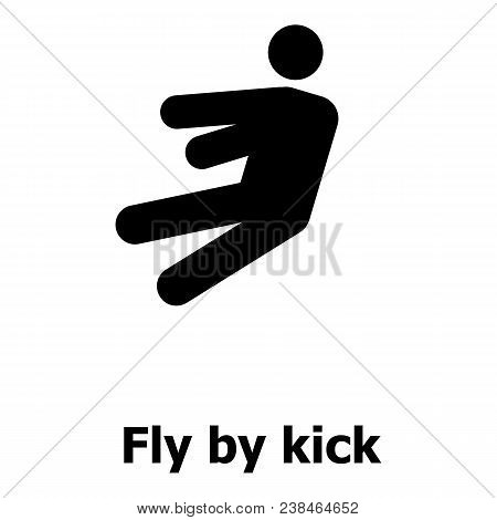 Fly By Kick Icon. Simple Illustration Of Fly By Kick Vector Icon For Web