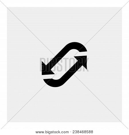Rotation Icon On Gray Background. Vector  Illustration