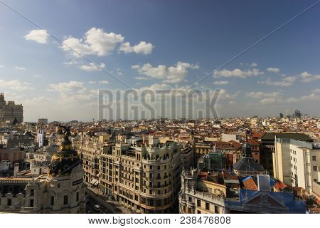 Houses And Streets In Madrid, Looking From High