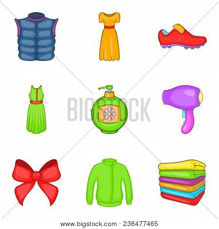 Consumer Boom Icons Set. Cartoon Set Of 9 Consumer Boom Vector Icons For Web Isolated On White Backg