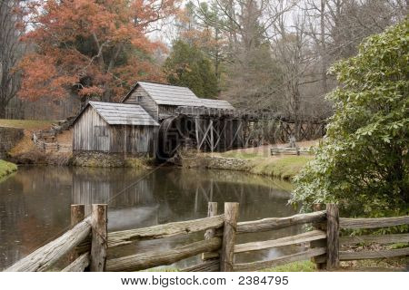 Mill With Water Wheel