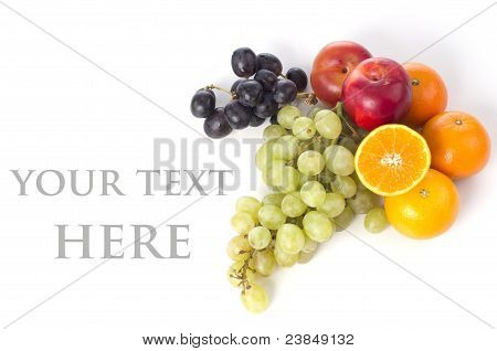 The Various Fruits In Different Colors