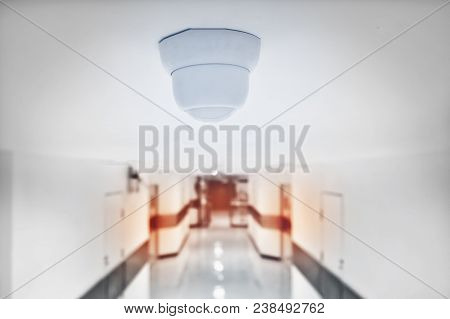 Cctv Camera Security In Building. Security Concept.