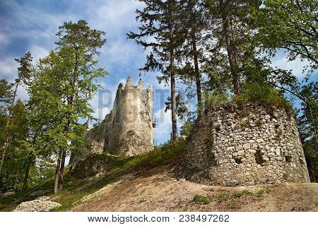 Great Fatra, Gader Valley: Catle Blatnica. The Ruin Of The Castle Blatnica.