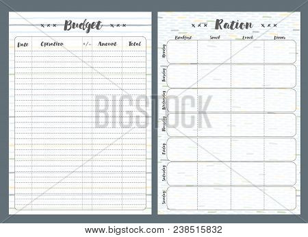 budget pages template