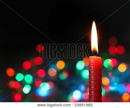 candle on dark background