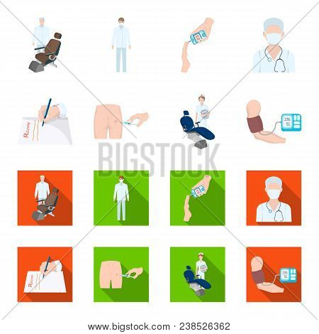 Intramuscular Injection, Prescription, Dentist, Blood Pressure Measurement. Medicineset Collection I