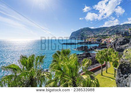 View Of Camara De Lobos, Cabo Girao In Background, Madeira Island, Portugal