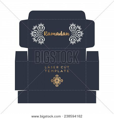 Laser Cut Islamic Pattern Envelope Template Vector