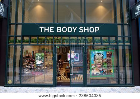 Bracknell, England - April 30, 2018: The Body Shop Store In Bracknell, England. The Body Shop, Is A