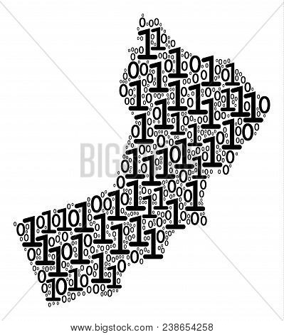 Yemen Map Mosaic Icon Of Zero And Null Digits In Variable Sizes. Vector Digital Symbols Are Combined