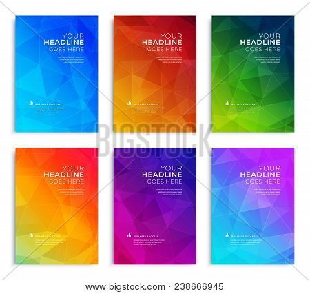 Modern Abstract Annual Report, Flyer Design, Brochure Templates Set. Vector Illustration For Busines