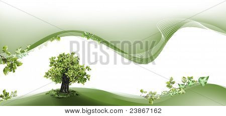 Nature Header And Footer