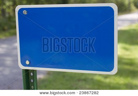 Blank Blue Fire Number Sign