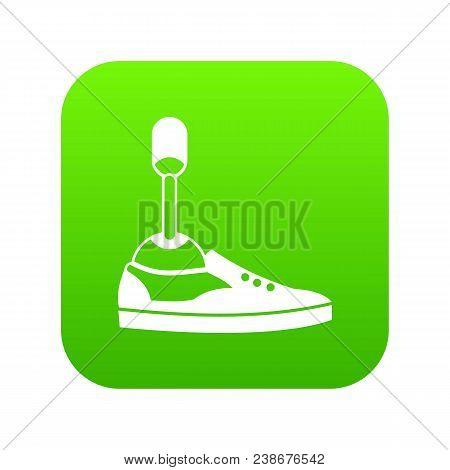 Prosthetic Leg Icon Digital Green For Any Design Isolated On White Vector Illustration